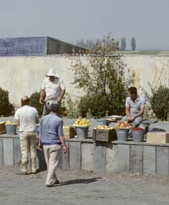 Roadside fruit market